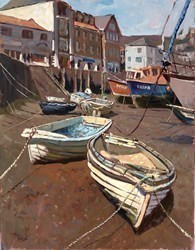 Boats on the Sand by Tony Forrest -  sized 14x18 inches. Available from Whitewall Galleries